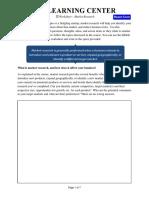 Market Research Worksheet