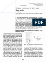 Seismic Resistance of Steel Plate Shear Walls
