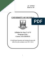 4.8 TYBSC Statistics