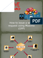 How to Issue a Work Request Using Maximo OPP