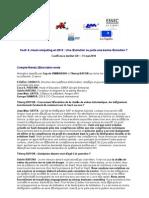 Cloud Computing Saas Conference Institut G9+ - 100531 - Table Ronde n°2