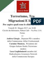 Terrorismo, tra Migrazioni e Islam
