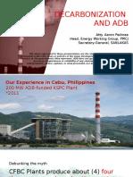 Decarbonization and ADB