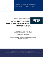 Conceptualizing the Innovation Process – Trends and Outlook