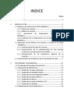 Reactor discontinuo de tanque agitado (RDTA) adiabático y no adiabático. Indice