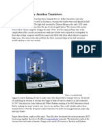 History of Bipolar Junction Transistors