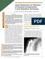 Vertical Humeral Osteotomy for Stem Revision in Total Shoulder Arthroplasty