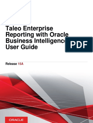 Oracle Taleo Enterprise Reporting With OBI User Guide pdf | Business