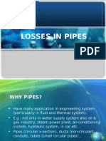 Losses in Pipes 2011