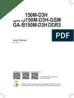 GIGABYTE Manual Ga-b150m-d3h(Ddr3)(Gsm) e