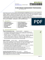 Chartered Engineer and Project Management Professional CV