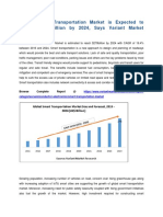 Global Smart Transportation Market is Expected to Reach $278 Billion by 2024, Says Variant Market Research