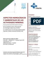 Aspectos hidrológicos y ambientales de las actividades mineras