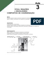 Quimica de Coordenacao Aula 3