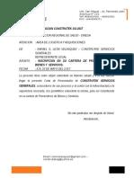 Carta de Presentacion Construtek