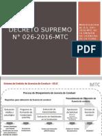Decreto supremo n° 026-2016-mtc