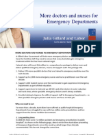 More doctors and nurses for Emergency Departments