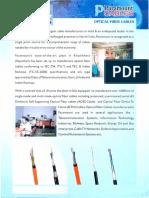 Paramount Optical Fiber Cables Brochure 2010