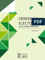 Cronograma Electoral Elecciones Primarias
