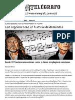 Led Zeppelin Tiene Un Historial de Demandas