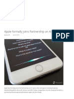 Apple Formally Joins Partnership on AI