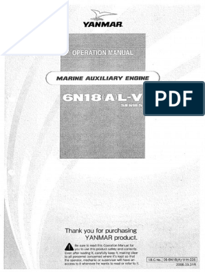 Yanmar 6n18al-Uv Manual | Cylinder (Engine) | Valve