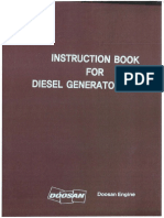 Instruction Manual for Diesel Generator DOOSAN MAN DIESEL 5L23 30H 720RPM