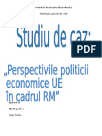 Studiu de Caz. Perspectivile Politicii Economice i