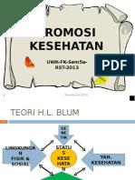UWKS FK 2013 2 Teori Perubahan Perilaku