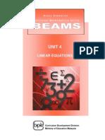 BEAMS_Unit 4 Linear Equations