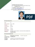 My Resume May Latest 2010