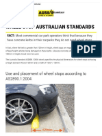 Wheel Stops Australian Quality Standards