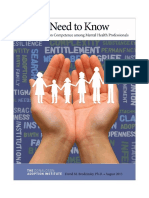 Handout a Need to Know Enhancing Adoption Competence Among Mental Health Professional