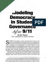Modelingdemocracyinstudentgovernanceafter9-11