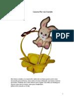 Canasta Conejo Para Pascua