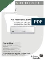 Aire Acondicionado Minisplit MANUAL de USUARIO