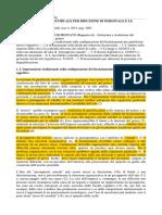 Gragnoli - Licenziamento Individuale Per Riduzione Del Personale