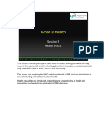Health in Sea What is Health Slides With Notes PDF