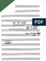 Yo te Diré (Para Coro) - Manuscrita.pdf