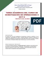 Tarea Académica Investigación de Operaciones II 2017-1