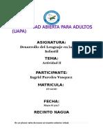 Tarea II Desarrollo Del Lenguaje Etapa Infantil