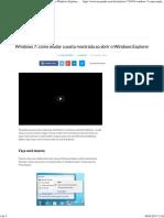 Windows 7_ Como Mudar a Pasta Mostrada Ao Abrir o Windows Explorer - TecMundo