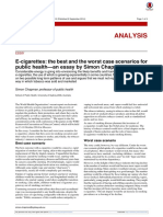 E-cigarettes- The Best and the Worst Case Scenarios for Public Health-An Essay by Simon Chapman - ProQuest