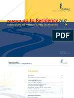 Roadmap to Residency 2017