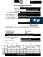 PF Withdrawal Form 19 - Sample