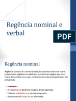 Regencia Nominal e Verbal