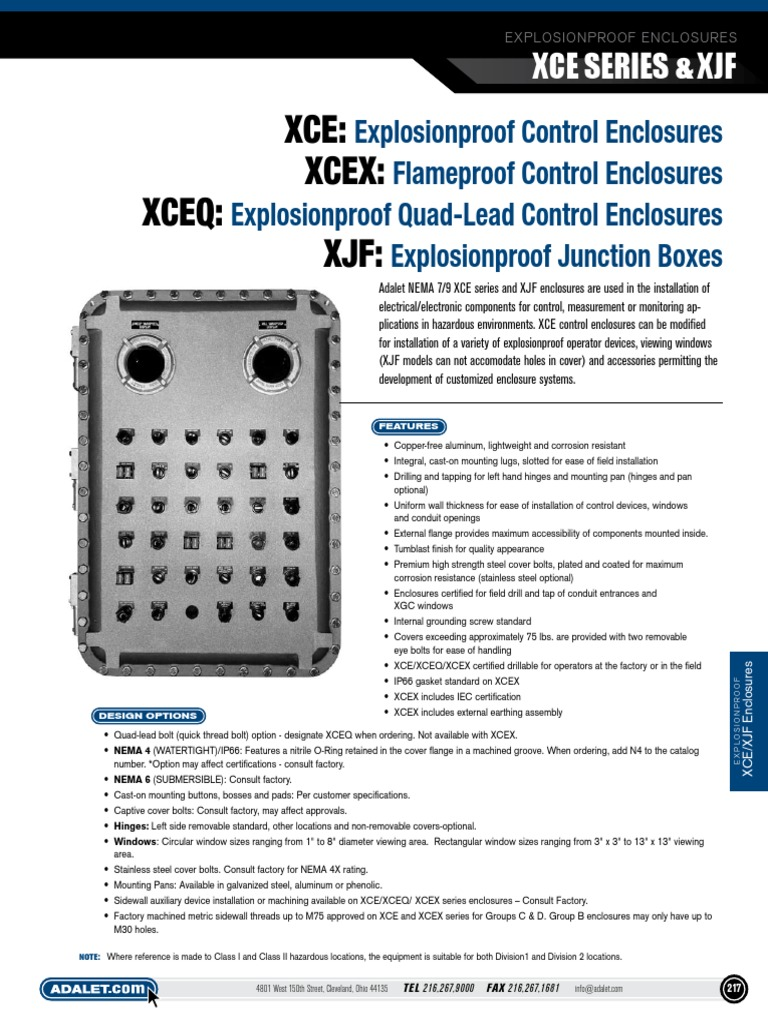 Adalet XCE-122005 Explosion Proof Enclosure XCE122005