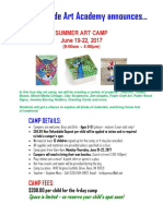 summer art camp - 2017