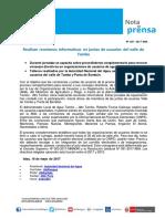 Nota de Prensa Nº 105-2017 - ALA TAMBO - ALTO TAMBO
