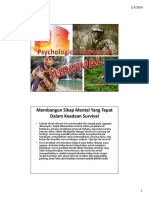 Psychological Aspects of Survival